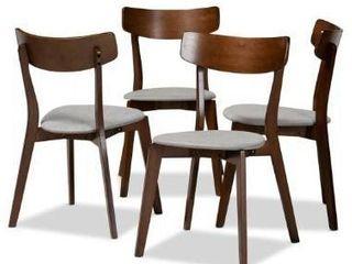 Parlin Mid Century Modern Transitional 4 Piece Dining Chair Set  Retail 229 99