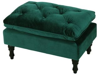 Jeremy Tufted Velvet Ottoman Bench by Christopher Knight Home  Retail 99 99