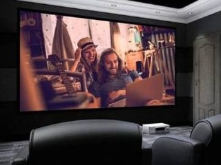 100 120  16 9 HD Home Theater Fixed Velvet Frame Projector  Retail 145 49