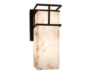 Dark Bronze  Off White  Justice Design Alabaster Rocks Structure Dark Bronze Outdoor Wall Sconce  Retail 298 00