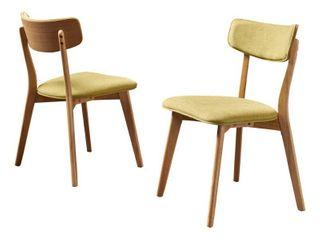 Chazz Mid century Dining Chair by Christopher Knight Home  Set of 2  Retail 159 99