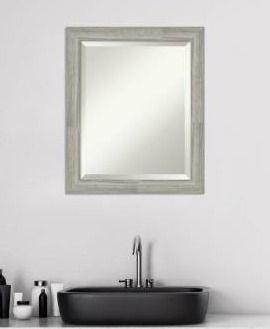 The Gray Barn Greywash Narrow Bathroom Vanity Wall Mirror  Retail 81 48