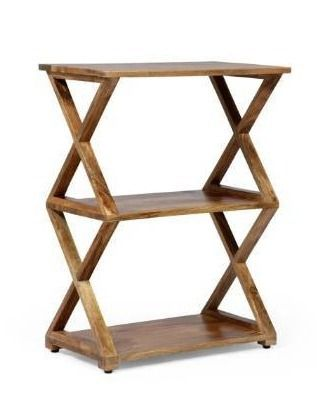 Choctaw Handcrafted Boho Mango Wood 3 Shelf Side Table by Christopher Knight Home