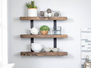 Del Hutson Designs Industrial Grace Three Tier Floating Shelves