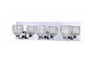 Eurofase Wave Zigzag Patterned Glass Bathbar  Chrome Finish   25728 019   5  high x 19 75  wide   5  high x 19 75  wide  Retail 176 00