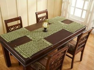 set of 8 Better Trends Macrame Place Setting Sage