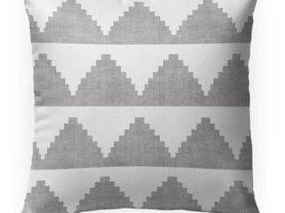 Set of 2 18X18  lASH GREY Indoor Outdoor Pillow by Kavka Designs