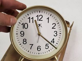 Stylish Modern Matte Gold 6 Inch Tabletop Alarm Clock