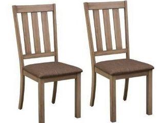 The Gray Barn Abbey Field Sandstone Slat Back Side Chair  Retail 224 99