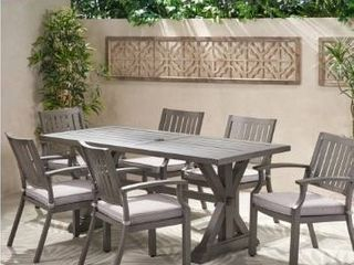 TABlE ONlY lombok Outdoor Aluminum Dining Table by Christopher Knight