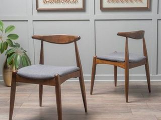 Francie Mid Century Modern Dining Chairs  Set of 2  by Christopher Knight Home   Retail 159 99