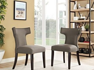 crop pic  Modway Fabric Curve Dining Chair  Retail 145 99