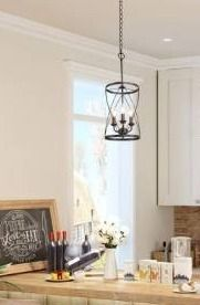 1 Carbon loft Ghaffari Modern Mini Pendant lighting with 3 lights Ceiling Chandelier   W 9 1 x H 24 4  Retail 127 49