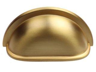 GlideRite 3 inch CC Satin Gold Cup Bin Cabinet Pulls  Pack of 10    Satin Gold