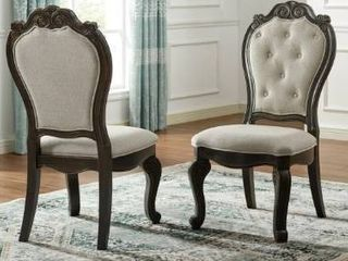 Gracewood Hollow Raymond Upholstered Side Chair   Set of 2  Retail 444 99