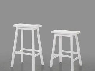 ACME Gaucho Counter Height Stool  Set of 2  White
