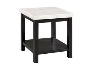 Evie Marble Square End Table White   Picket House Furnishings
