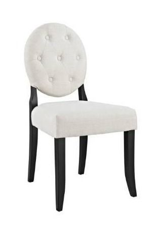 Beige  Copper Grove Quince Button tufted Dining Chair  Retail 131 49