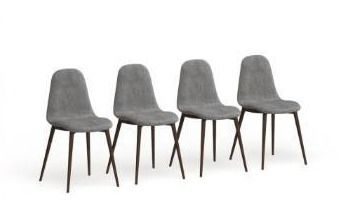 Carson Carrington Viken Fabric Dining Chair  Set of 4  Retail 319 99