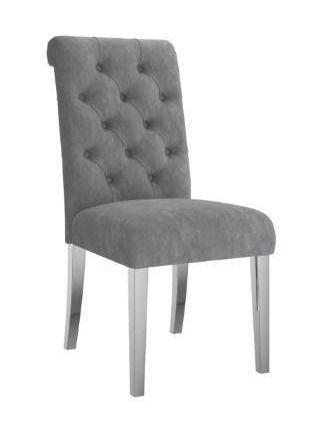 Set of 2 Velvet Upholstered Side Chair  Retail 471 99