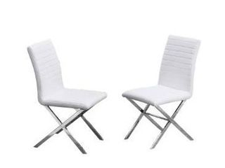 Best Master Furniture Modern Helix Side Chairs  Set of 2  Retail 229 49