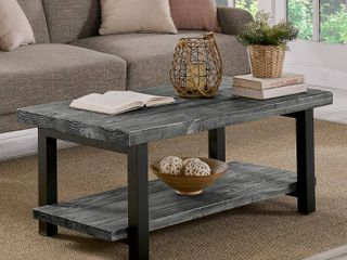 Grey  Carbon loft lawrence Reclaimed Solid Wood 42 inch Coffee Table  Retail 333 49