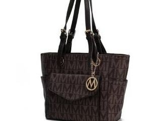 Chocolate  MKF Collection Griselda M Signature Tote Bag by Mia K