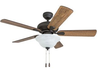 Prominence Home Hawks Bluff Traditional 42  Aged Bronze lED Ceiling Fan  Bowl light  Barnwood Blades  3 Speed Remote   Retail 107 49