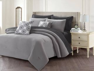 Harper lane Solid 7 Piece Bed In A Bag Set  Twin Bedding