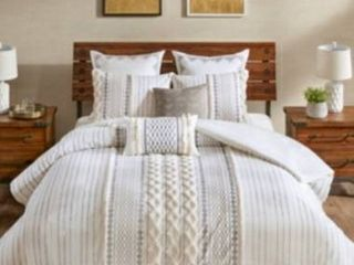 The Curated Nomad Clementina Geometric Cotton Duvet Cover Set  Retail 106 39
