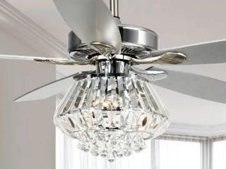 52 inch Chrome 4 light Crystal Shade Ceiling Fan  Retail 183 49