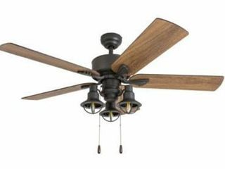 Prominence Home Sivan Farmhouse 52 inch Aged Bronze lED Ceiling Fan  Retail 163 32