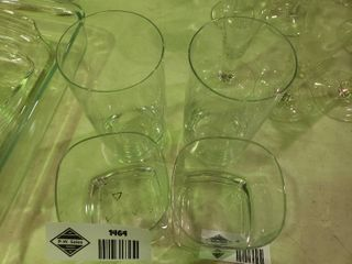 Two Tall Drinking Glasses and Two Whiskey Glasses