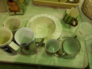 lot of Assorted Mugs and Dishware