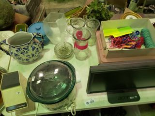large lot of Home Goods  Decor  Craft Supplies  etc