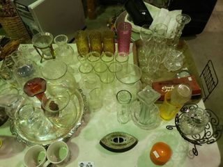 large lot of Home Goods  Glassware  Decor  Etc