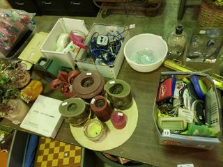 large lot of Home Goods  Office Supplies  Candles  Etc