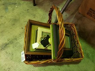 Basket with Picture Frames