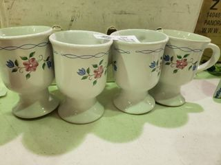 lot of 4 Matching Floral Mugs