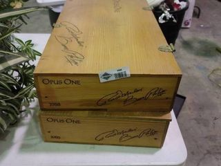 lot of 2 Wooden Wine Boxes