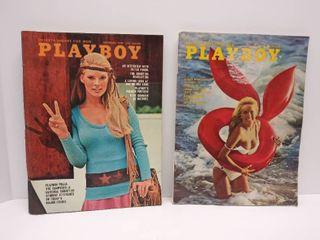 September 1970   August 1972 Playboy Magazines