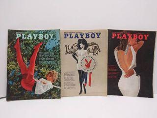 lot of 3   1960 s Playboy Magazines   Nov  1967  Nov  1968   July 1968