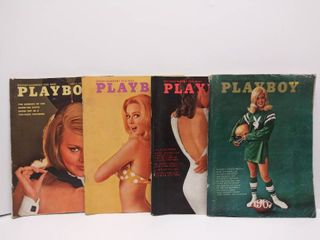 lot of 4 Playboy Magazines from 1967   March  July  Sept    November