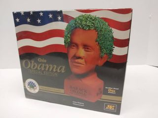 NIB   Special Edition Collectible Chia   Obama  Determined