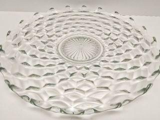 14  Cake Plate  Torte Glass Platter   FostoriaIJ