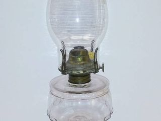 Vintage light Pink Pedestal Oil lamp