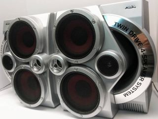 Vintage Aiwa Twin Drive 4   Speaker System Pair   Model No  SX JN5