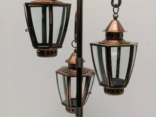 25  Tall   Copper Candle Holder with 3 Removable Glass Panel Individual lanterns