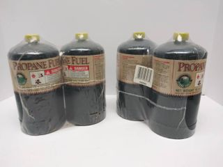 lot of 4 Sealed Propane Fuel Canisters   16 5 oz  Each