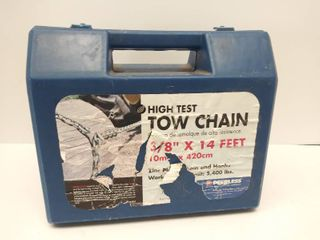 3 8  x 14 Feet High Test Tow Chain in Carry Case